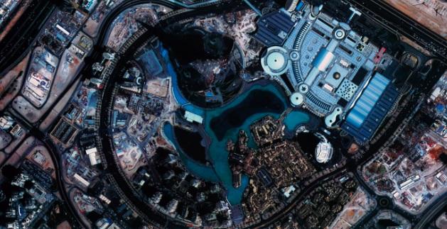 高分二号卫星1米迪拜哈利法塔融合影像